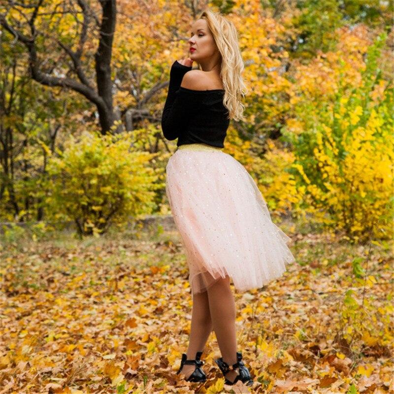 Summer Women Star Glitter Dance Tutu Skirt For Lady Sequin