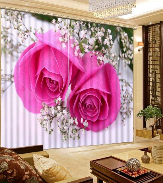 European 3D Curtains For Living Room Bedroom Window Kitchen Home ...