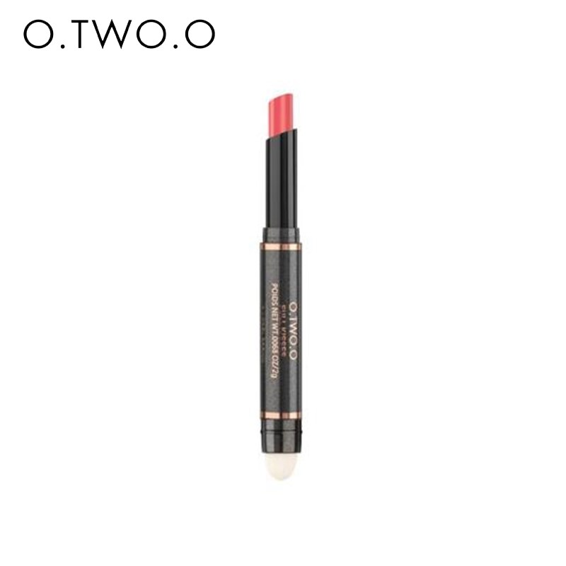 O.TWO.O New Arrival 12 Colors Lip Stick Matte Lipstick Double- Head Waterproof Matte Lipsticks Moisturize LipSticks Pen Cosmetic