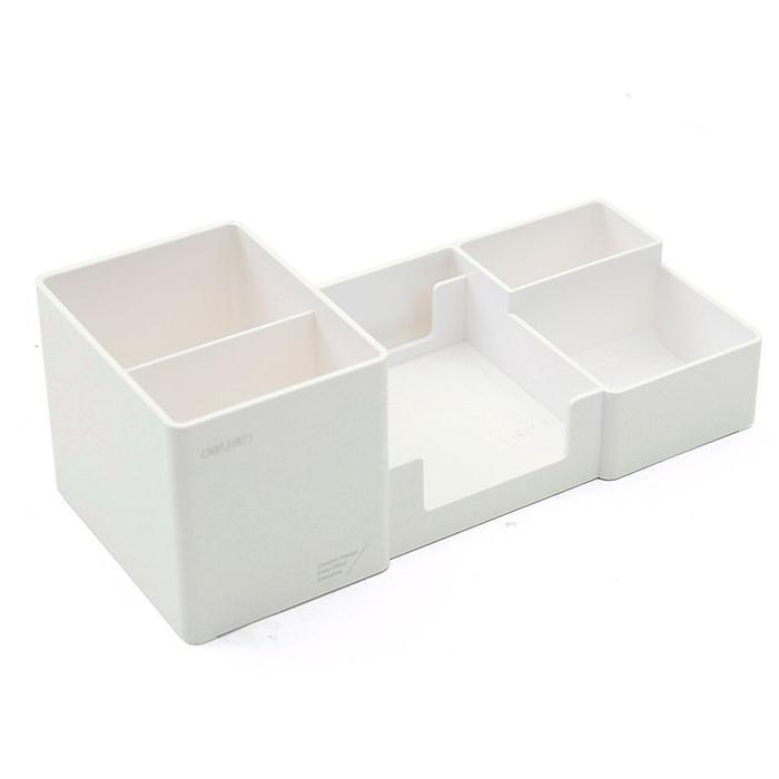 Держатель для канцелярских принадлежностей, аксессуары для стола, резиновая коробка для ног, держатель для канцелярских принадлежностей, канцелярские товары, органайзер для стола - Цвет: M white
