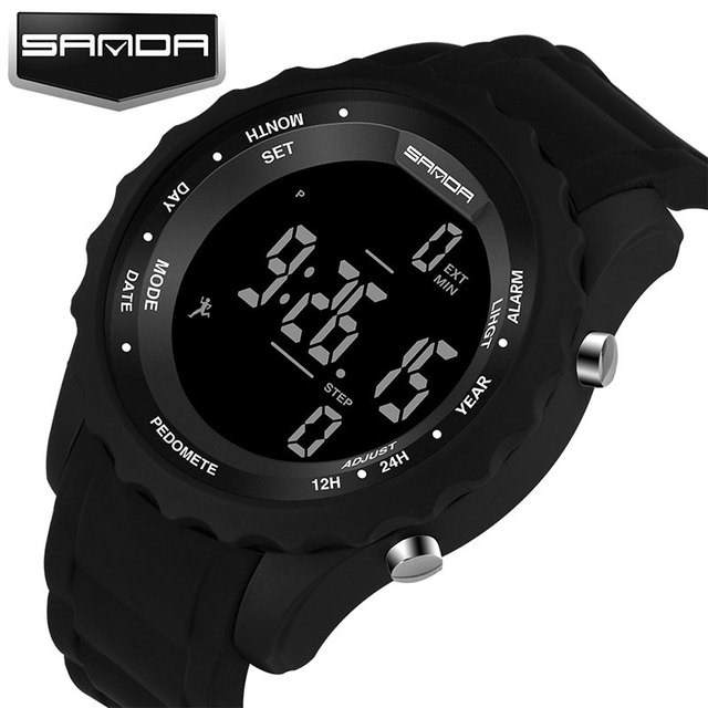 SANDA Running Sport Watch Men Top Brand Luxury Famous LED Digital Watches Male Clock Electronic Wrist Watch Relogio Masculino