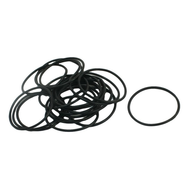 20PCS 22mm OD 20mm Inner Dia 1mm Thick Flexible Rubber O Ring Seal ...