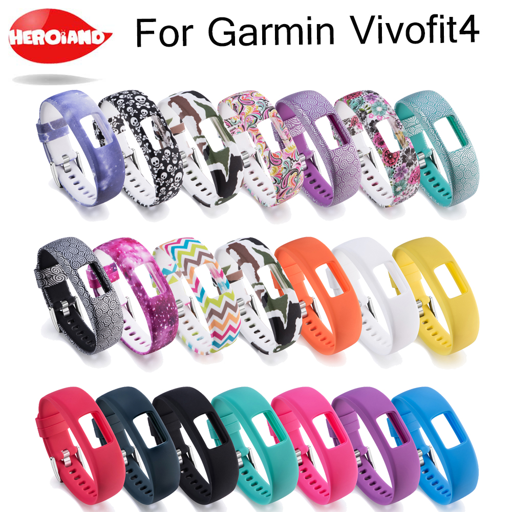 Replacement Silicone S L Wrist Band Strap For Garmin Vivofit 4 Activity Fitness Tracker Watchbands For Garmin Vivofit4 Wristband