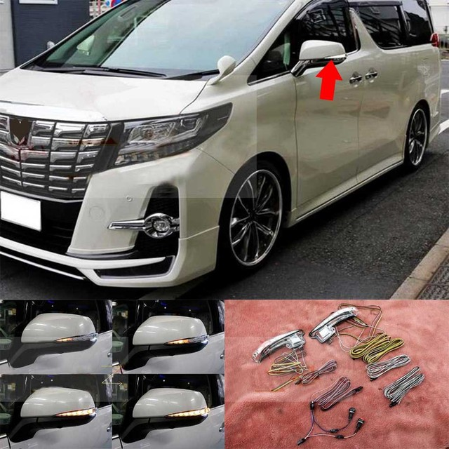 US $250 0 |For Toyota ALPHARD VELLFIRE 30 LED Rearview Mirror Running  Turned Ground Lights-in Mirror & Covers from Automobiles & Motorcycles on