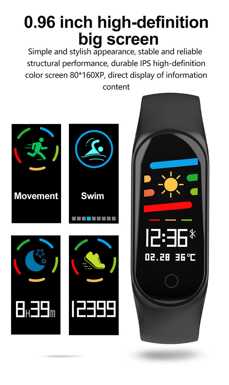 COLMI M3S Smart Bracelet Color-screen Fitness Tracker blood pressure Heart Rate Monitor sleep tracker Wristband For Android IOS 2