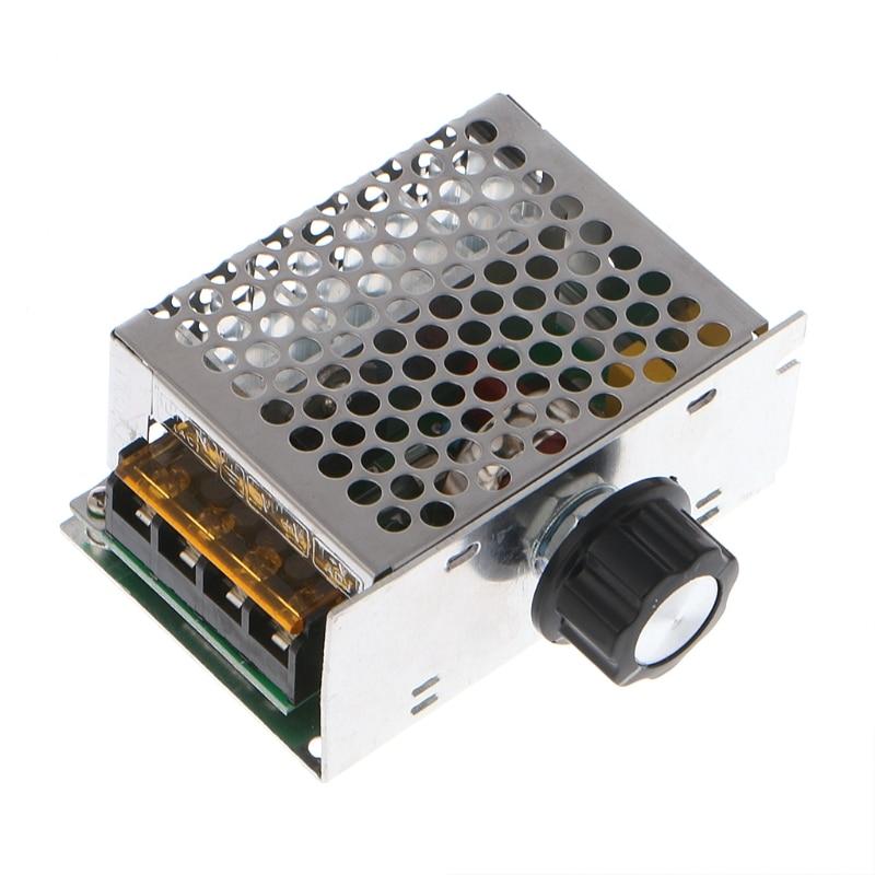 Professional Voltage Regulators 4000W 220V High Power SCR Speed Controller Electronic Voltage Regulator Governor Thermostat W315