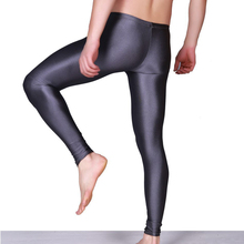 Free Shipping Sexy Solid Color Men Casual Leggings Skinny Pants Long Underpants Thin Fitness Trousers