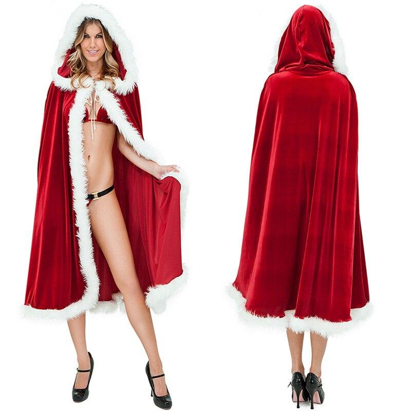 Adult Little Red Riding Hood Cape Cloak Fancy Dress Lady Women Halloween Costume