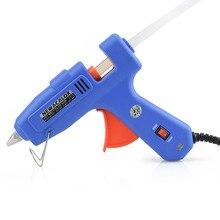 60 Вт 100 Вт ЕС Plug Термоклей Пистолет с 1 шт. 11 мм Stick Heat Температура Промышленного Инструмента Пушки Термо Клеевым Пистолетом Меди Сопла