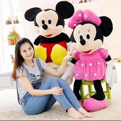 1 pçs nova chegada venda quente 70cm mickey mouse & minnie mouse animais de pelúcia brinquedos para o presente das crianças
