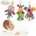 Baby Soft Plush Rattles Cartoon Animal Series Hand Bell Owl Koala Donkey Hanging Crib Stroller Toys For Infant Grip