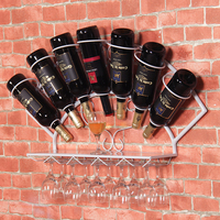 Free shipping Iron wine rack hanging wall decoration wine grape wine rack shelf display rack goblet bag mail