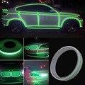 12mm * 3 M Rolo Carro Verde Brilhante Reflective Sticker Motocicleta Car Luminous Fita Reflexiva Faixa Decal PVC
