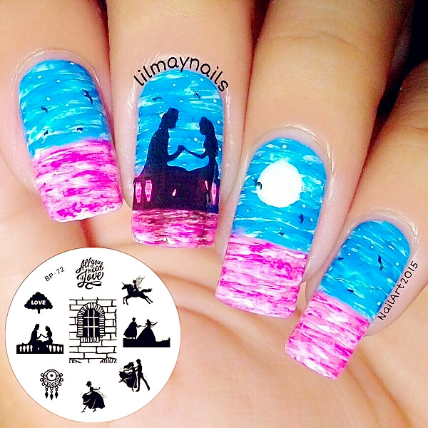 1 Pc Born Pretty Stamp Plate Bp 72 Love Letter Theme Nail Art Stamping