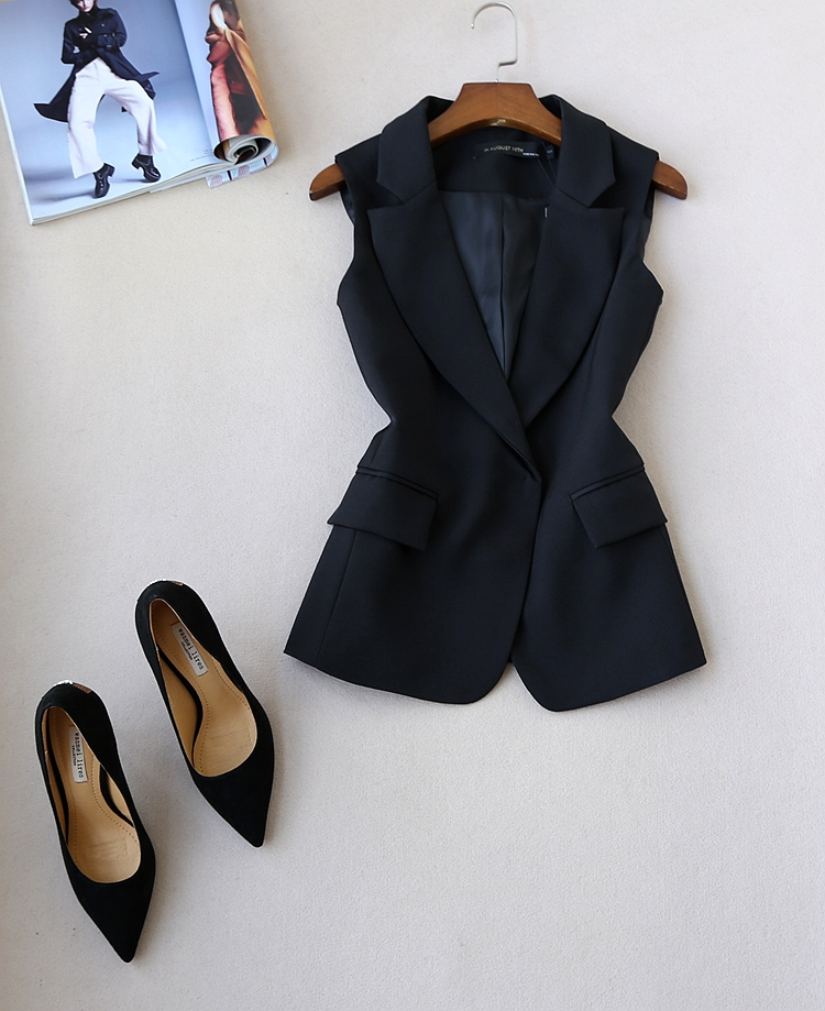 pièce 2 Gilet Jambe Deux Ensemble 1 Fit Slim Femmes Et Printemps De Manches Féminin Mode Large Costume Automne Nouvelles Pantalon qaBwnHP