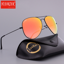 Real Glass Lens 62mm Metal Sunglasses Goggle Men Women Driving Pilot Mirror G15 Gradient UV400 Sun Glasses Eyewear With Package