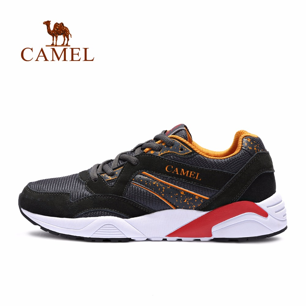 CAMEL Men Running Shoes Breathable Comfortable Walking Jogging Training Outdoor Sports Suede Fashion Sneakers