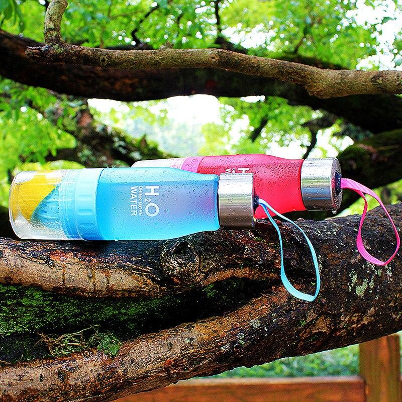 Gift 650ml Infuser Water Bottle plastic Fruit infusion Kids Drink Outdoor Sports bottle Juice lemon Portable Kettle in Water Bottles from Home Garden
