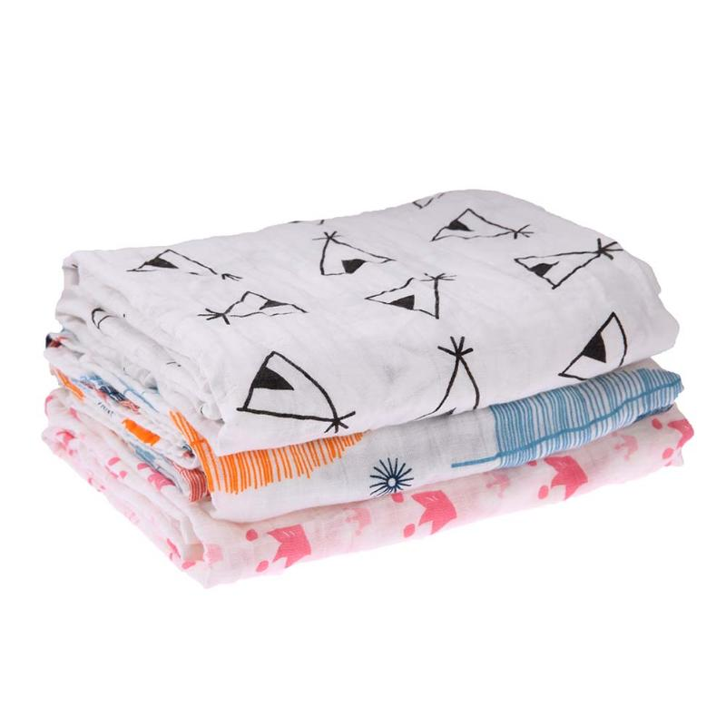 Cotton Baby Swaddling Towel Infant Double Layer Gauze Bath Towel Baby Swaddle Blankets Newborn Wraps 115 x 115cm