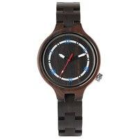 Womens Full Wood Quartz Watches Bracelet Clasp Fashion Women Ladies Bangle Creative Wooden Wristwatch for Gift