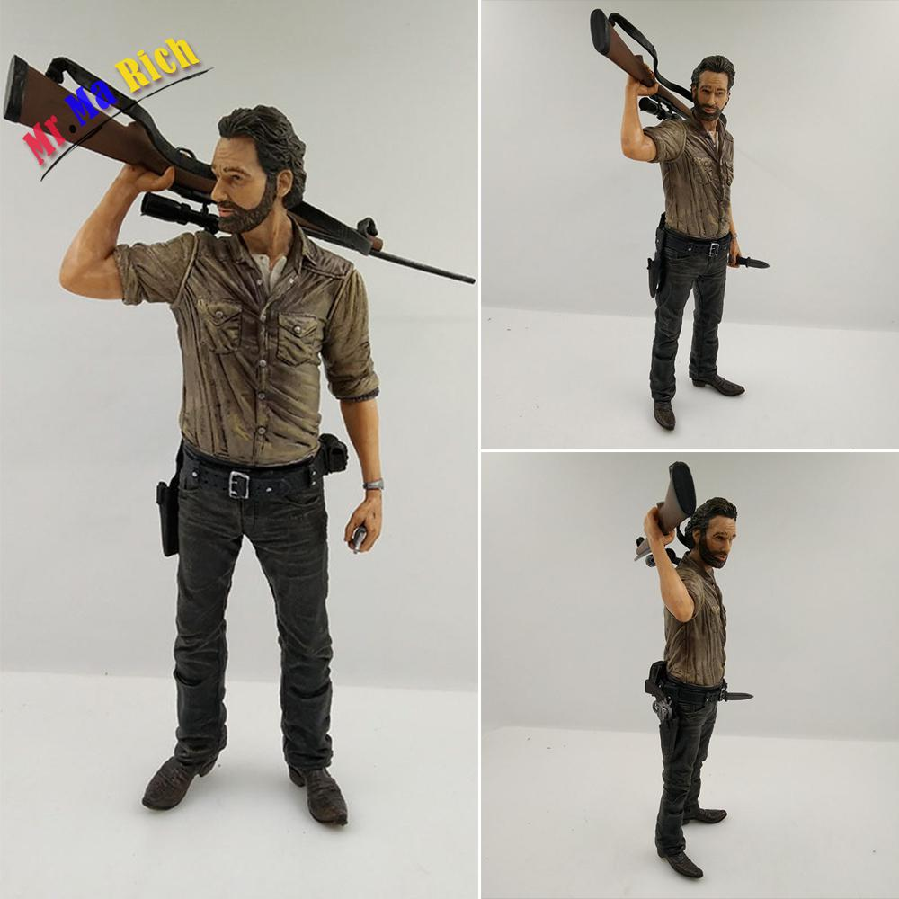 10 Inch 25cm The Walking Dead Character Rick Grimes Figures Toy  Deluxe Action Figure Model Gift the walking dead rick grimes pvc action figure collectible model toy 10 25cm 10inch