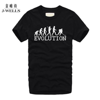 Human Evolutionary Patterns Printed T-shirts Men Fashion City Work Bottoming Short Sleeve Shirt Male Clothing Tshirt Size XS-4XL