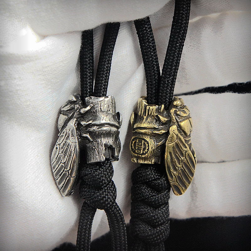 EDC Tibetan silver Brass Knife Beads A Pendant Paracord Outdoor DIY Decorations Tibetan silver Brass Camping Gear EDC Tools