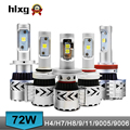 Car Styling 72W 12000lm C ree Car LED Headlight Kit H4 H7 H8 H9 H11 9005 HB3 9006 xemon DRL H4 Hi Lo Beam Led Headlamp