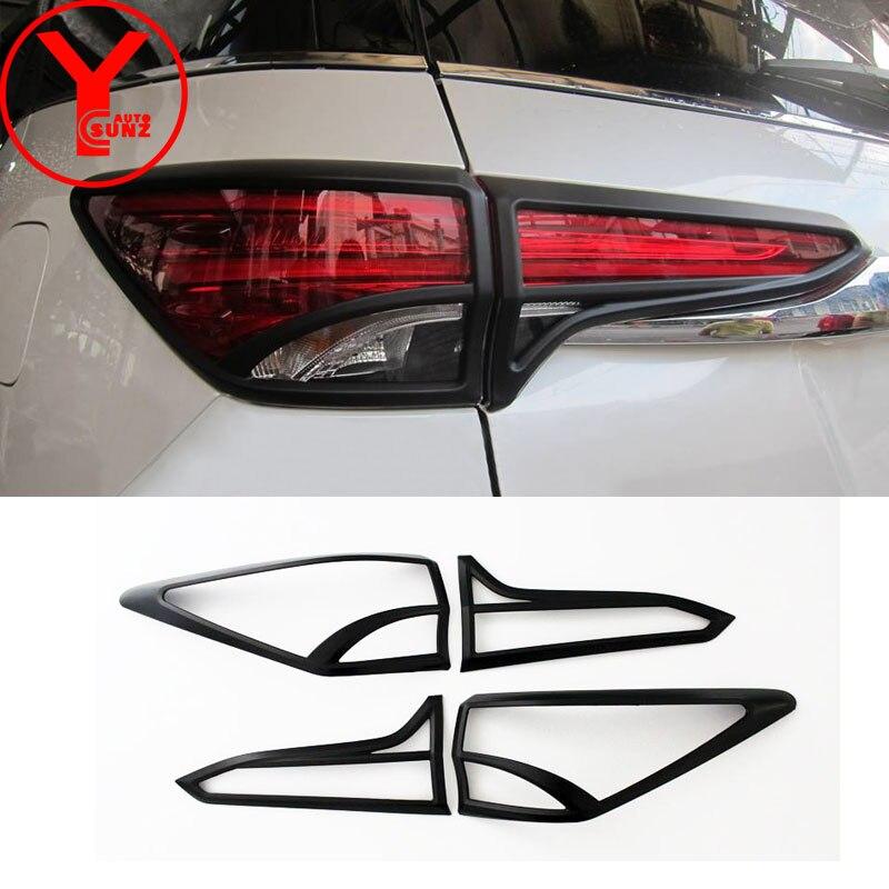 Черный Задний Свет Обложка для Toyota hilux fortuner SW4 2015 2016 2017 авто аксессуары для протекторов для fortuner sw4 2017 YCSUNZ