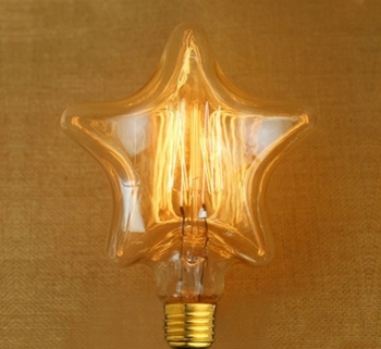 mix Edison Style bulb for home decoration 220v E27 warm white heart shape/five star shape available