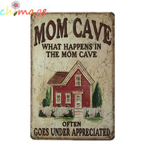 MOM CAVE VINTAGE Tin Sign Bar pub home Wall Decor RETRO Metal Poster(China)