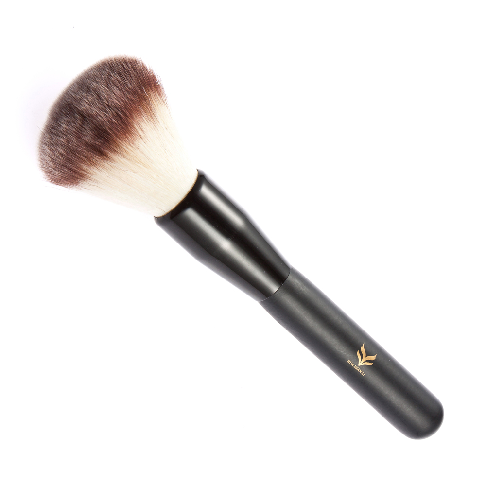 HUAMIANLI 1pc Hot Sale Face Makeup Blush Powder Brush Brown Color Handle Cosmetic Large Brush Make Up Beauty Cosmetic Make Up