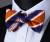 BZS06N Laranja Listrado Azul Dos Homens de Seda Auto Bow Tie lenço conjunto Abotoaduras Quadrado Bolso Clássico Festa de Casamento