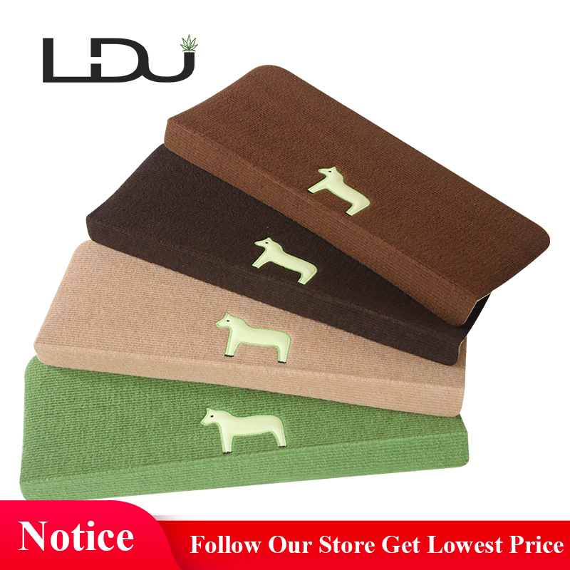 RULDGEE Home Luminous Self-adhesive Non-slip Floor Stair Carpet for living room Cartoon Horse Pattern Stair Mat Protector Rug