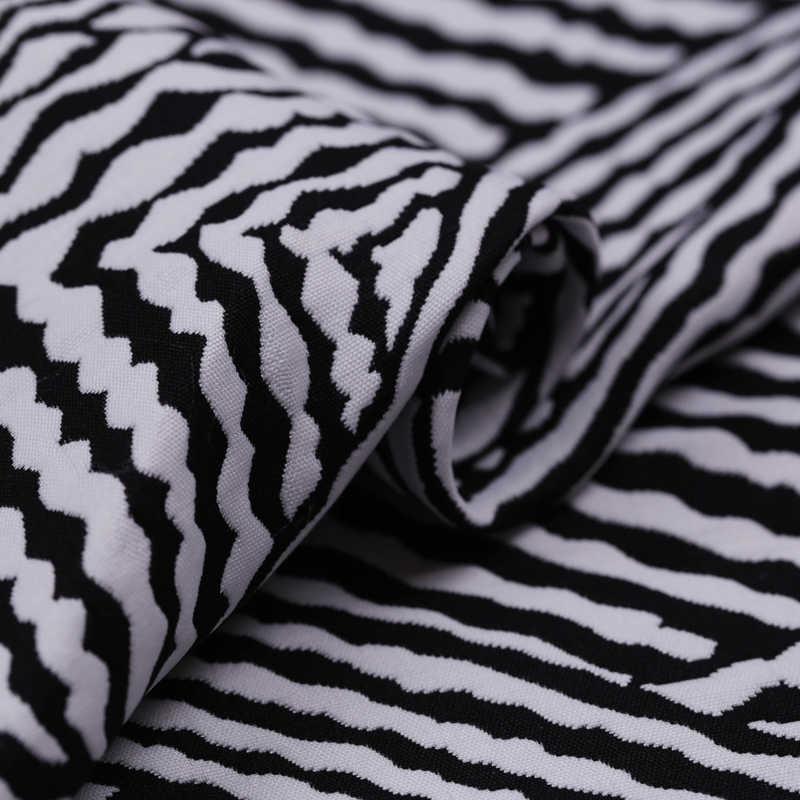 Geometrica a righe jacquard tessuto moda Francese tridimensionale jacquard tessuto croccante vestito giacca jacquard brocade fabric