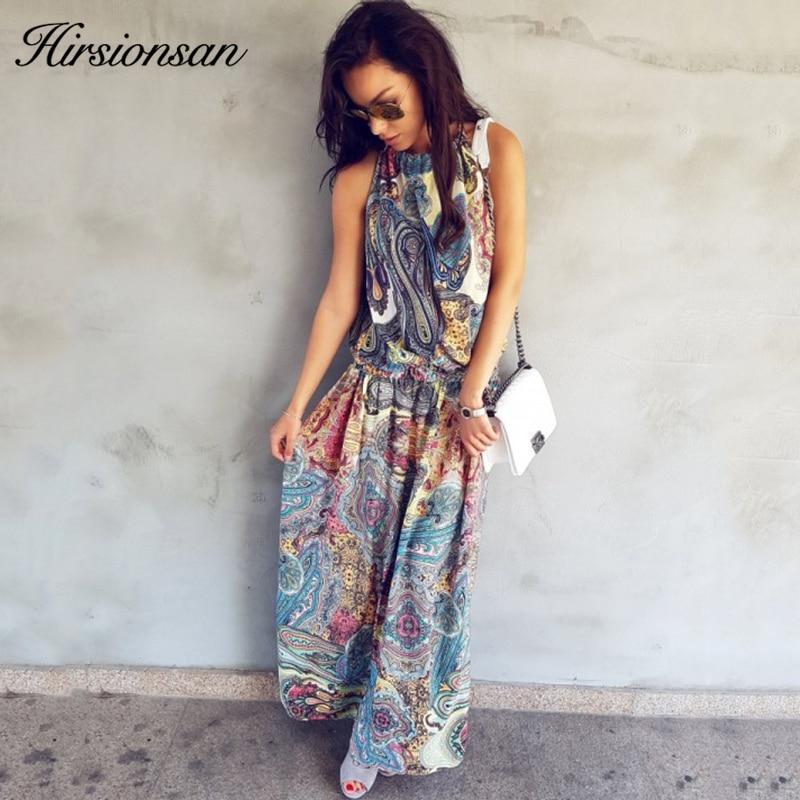 Hirsionsan Long Bohemian Dress 2017 Summer Women Sundress