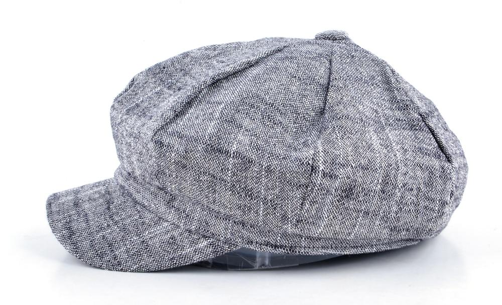 Delle donne di modo cappuccio ottagonale tappo strillone cappello di cotone  e lino di miscelazione berretto autunno e di inverno cappelli per le donne  ... 2c741dcc3364