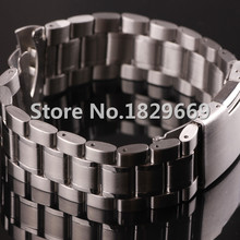 Pure SOLID STAINLESS STEEL WATCH bandas correa pulseras 16 mm 18 mm 20 mm 22 mm 24 mm correa de acero inoxidable