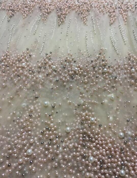 Tessuto africano Del Merletto con perle di Alta qualità LJY 82941 3 Francese di modo di tulle Tessuti di Pizzo-in Pizzo da Casa e giardino su  Gruppo 1