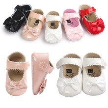 New lovely baby toddler first walkers pu leather baby shoes round toe flats romirus babe shoes 0~18month