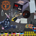 Professional Tattoo Kit 8 Wrap Coils Guns Machine Set 6 Colors Pigment Sets LCD Power Supply Needle Permanent Makeup Tattoo Kits