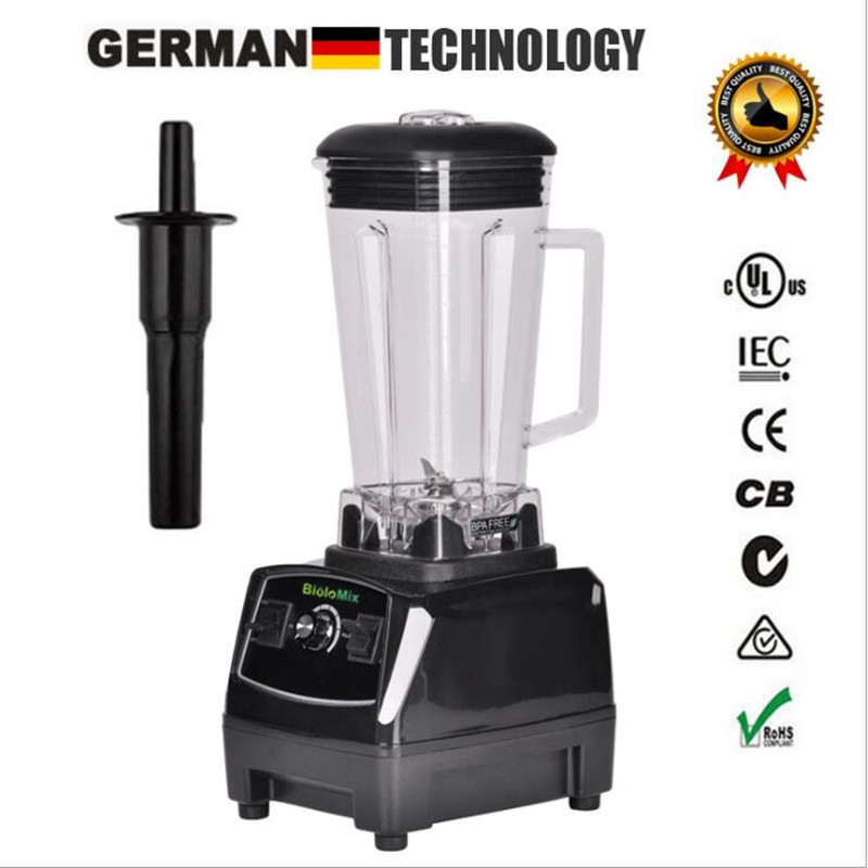 EU/US Plug G5200 BPA Free 3HP 2200W Commercial Blender Mixer Juicer Power Food Processor Smoothie Bar Fruit Electric Blender eu uk au plug 3hp bpa free commercial grade home professional smoothies power blender food mixer juicer food fruit processor