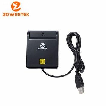 100% Original Zoweetek 12026-1 2016 New Sale Easy Comm USB Smart Card Reader IC Card Reader For SIM /ATM/IC/ID Card