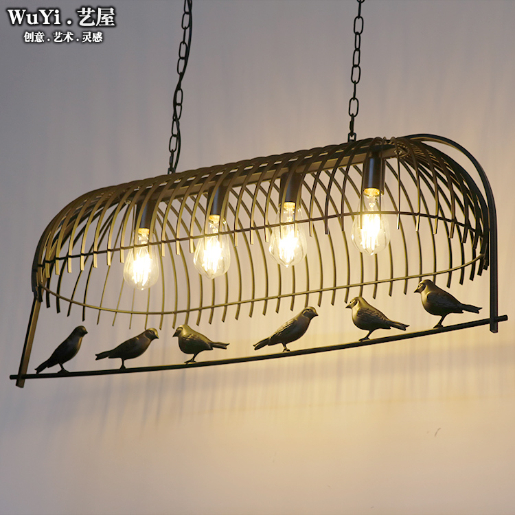 LOFT vintage industrial wrought iron bird cage pendant light hanging lighting for Restaurant bar Dining room vintage birdcage crystal chandelier lighting black rustic bird cage pendant hanging light chandeliers lamp for dining room bar