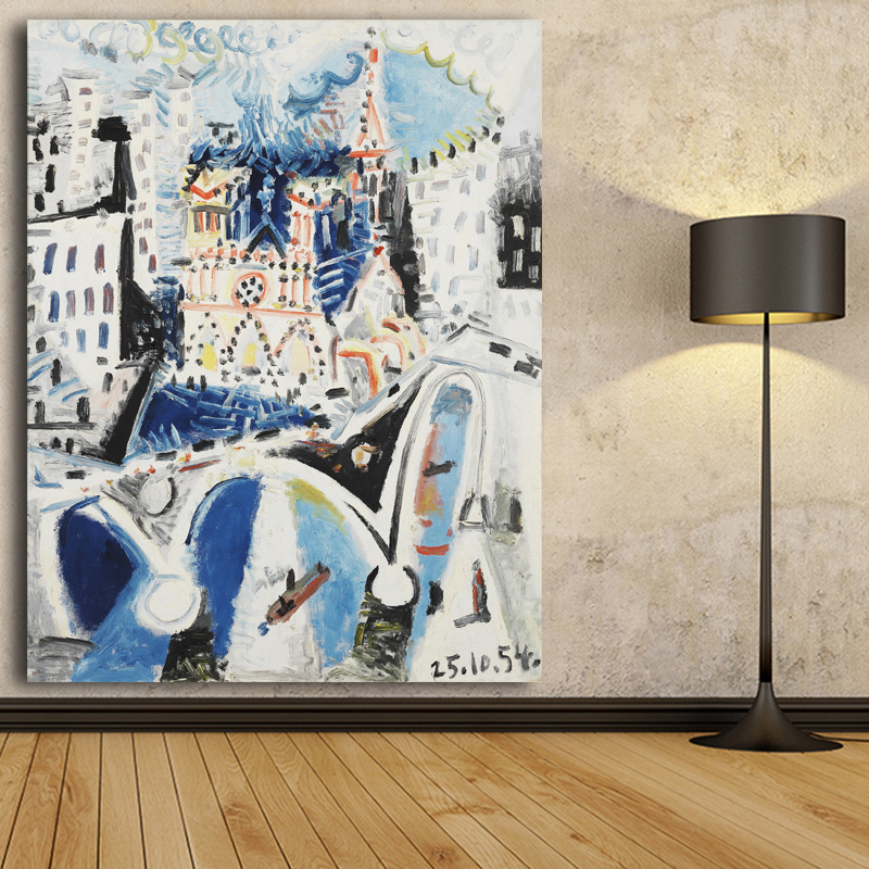 canvas art print poster pared pinturas de pablo picasso abstracta moderna casttle aceite pintura de pared