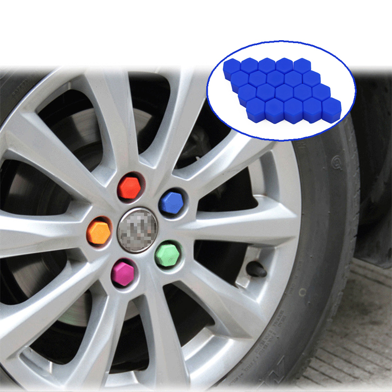 ZD 20Pcs For Citroen C5 C4 C3 Mini Cooper Opel Astra H G J Insignia Vectra C Saab Silicone Car Wheel Hub Screw Valve Caps Cover
