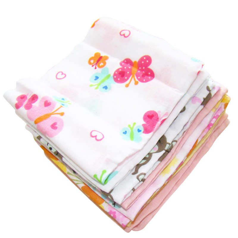 8pcs/lot Cotton Newborn Baby Girls Nursing Towel Boys Washcloth Handkerchief Bibs Towels Saliva
