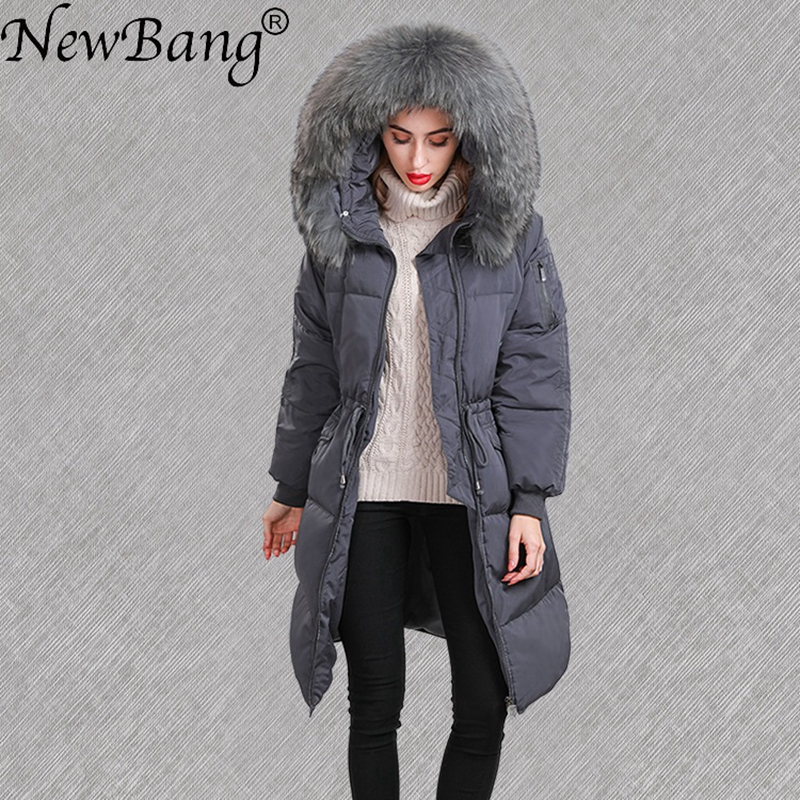 NewBang Brand Winter Long   Down     Coat   Female With Big Real Fur Collar Thick Warm Jacket Windproof Parka Women Oversize   down   jacket
