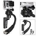 Xiaomi yi alumínio mini handheld estabilizador steadycam vídeo estabilizador gopro para gopro hero4 3 + 3 sj4000 sjcam sj5000 acessórios