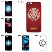 Film Superhero Iron Man Arc reaktor do iPhone 4 4S 5 5C SE 6 6 S 7 8 Plus X galaxy S5 S6 S7 S8 Grand rdzeń II Prime alfa(China)